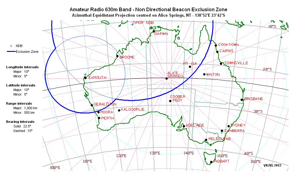 Australia Map Latitude.Amateur Radio 630m Band In Australia