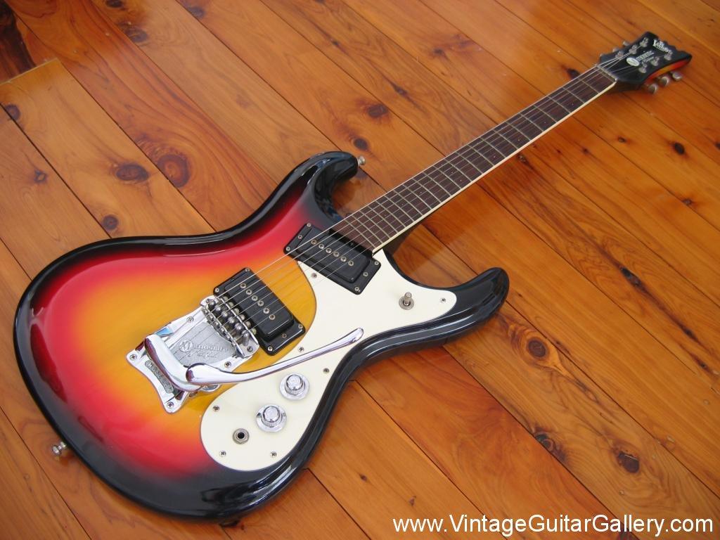 Vintage Guitar Gallery 187 1966 Sunburst Mosrite Ventures Model