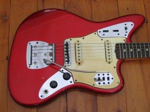 Make: Fender Model: Jaguar Color: Candy Apple Red Year: 1965 Serial Number: L846XX Case: Original White