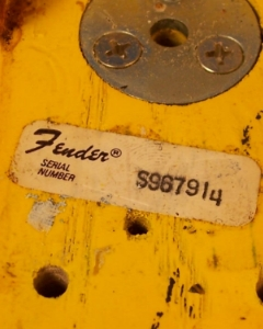 serial number lookup fender