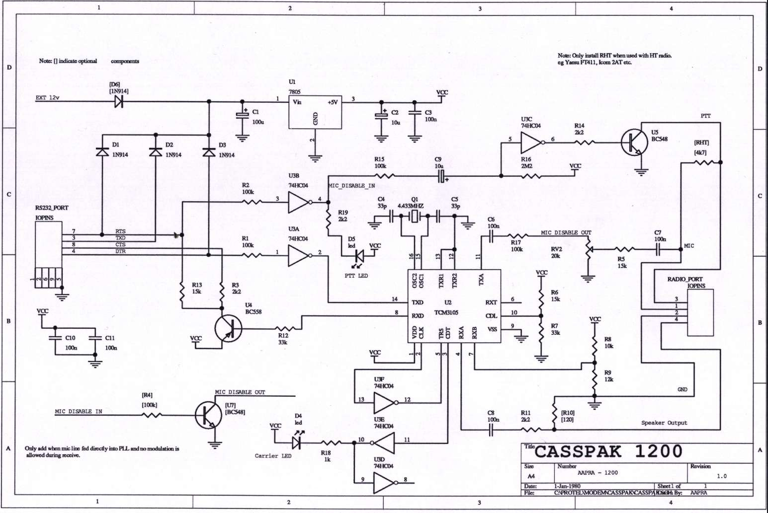 Aapra home page casspak 1200 modem circuit diagram in ps format 46k or pooptronica